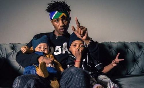 Emtee works in studio with sons, Avery and Logan (Photos)