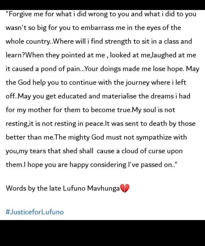 Tribute To Lufuno