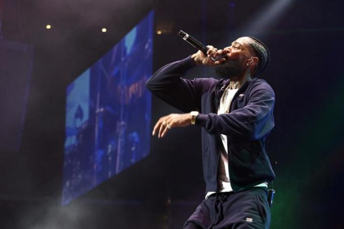 Kanye West Pays Tribute To Nipsey Hussle At Church