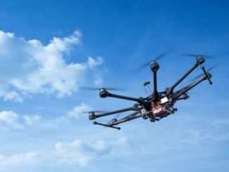 Octocopter Drone Furnished With Nailer Can Fix The Roof Top So You Don't Need To