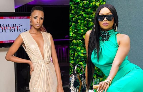 Image result for Zozibini Tunzi and bonang matheba