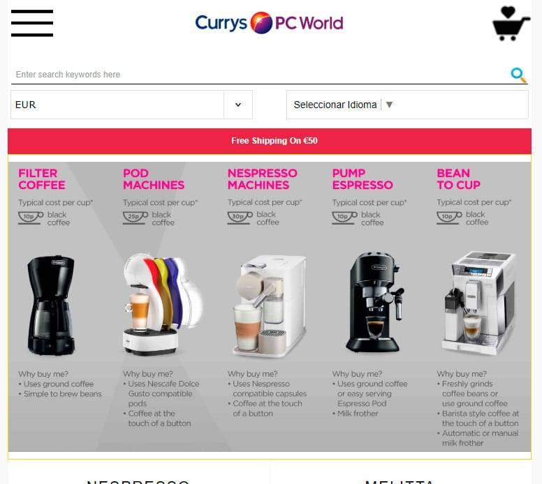 Cofnsj.xyz Tienda Online Falsa Estafa Maquinas De Cafe