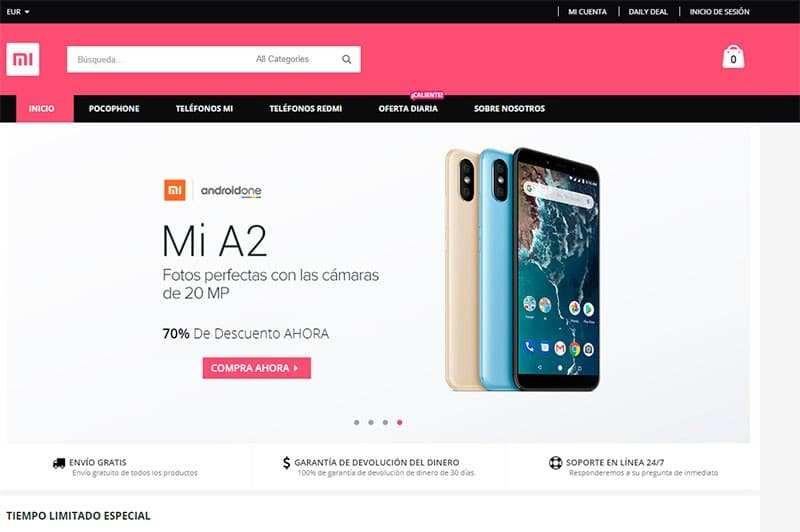 Mimoviles.com Tienda Falsa Online Productos Xiaomi