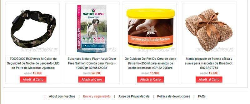 Artesyredesdelsur.es Tienda Falsa Online Perros Gatos