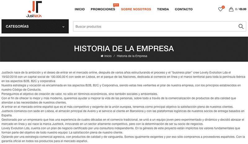 Justteck.com Fake Electronic Online Shop Enterprise