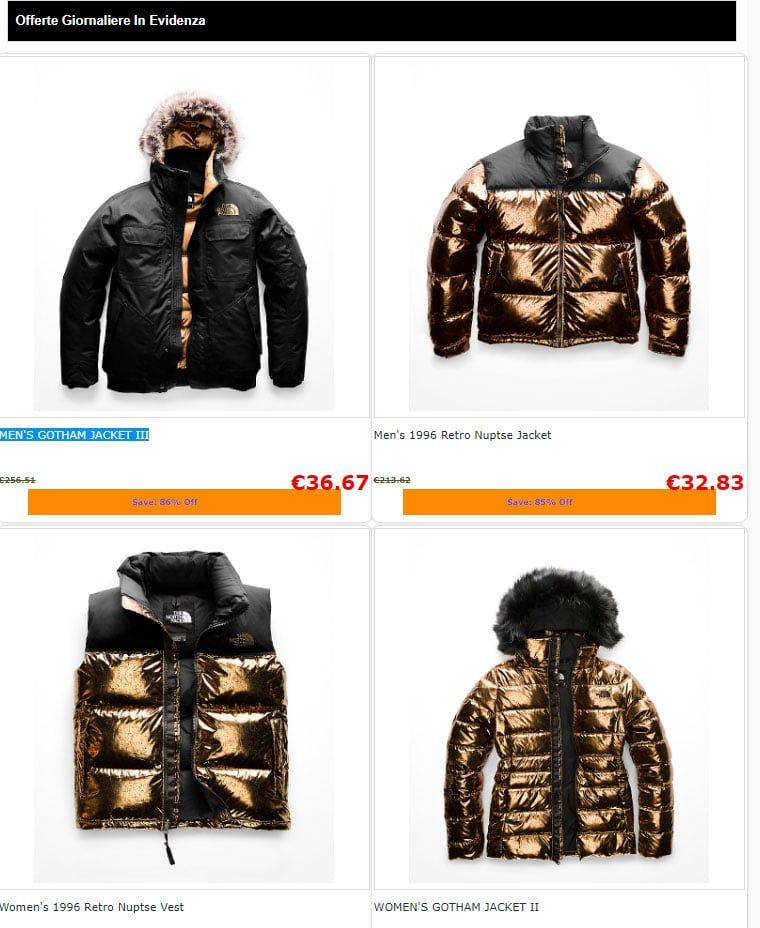 Nfmkmks.xyz Fake Online Shop Scam Coats