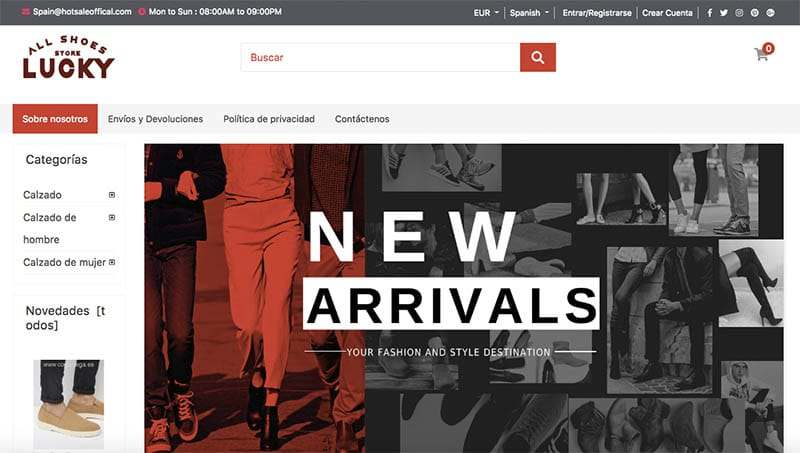 Casestore.xyz Fake Online Shop Of Footwear