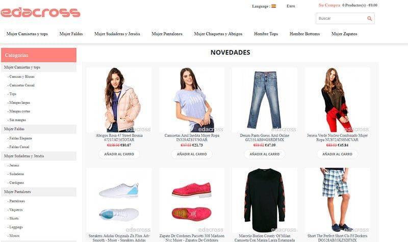 Edacross.org Tienda Online Falsa Moda