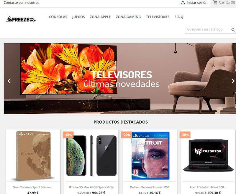 Freezeproshops.com Tienda Falsa Online Tecnologia Apple Gaming