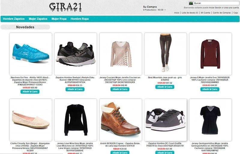 Gira21.es Tienda Falsa Online Zapatos Moda