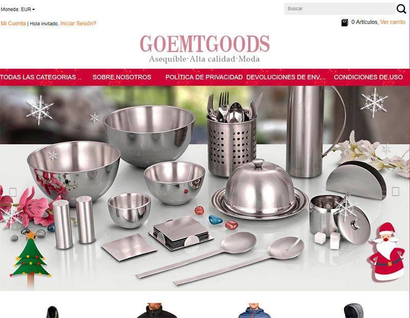 goemtgoods.com tienda falsa multiproducto