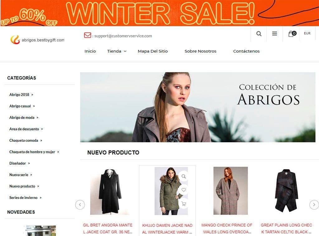 Abrigos.bestbygift.com Tienda Falsa Online Abrigos