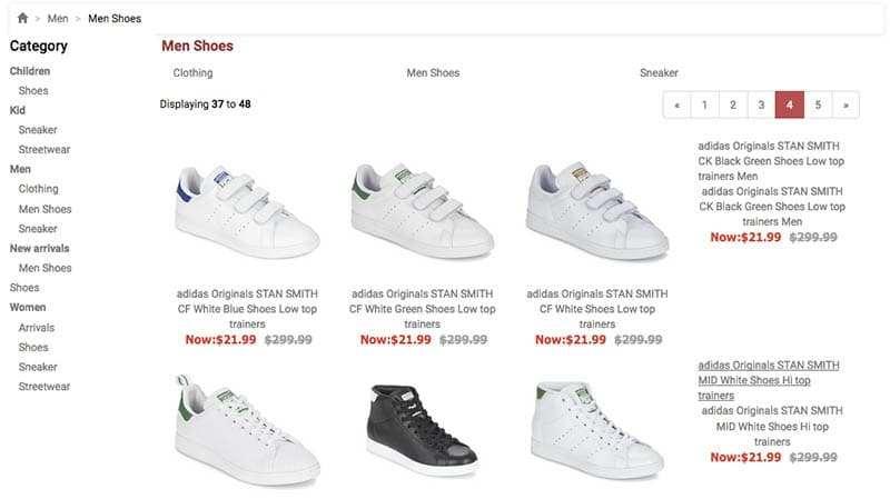 Hotshoesshop.top Tienda Online Falsa Adidas Productos