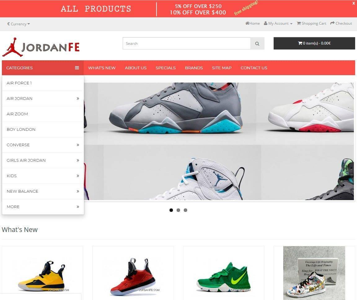 Jordanfe.com Tienda Falsa Online Productos Michael Jordan