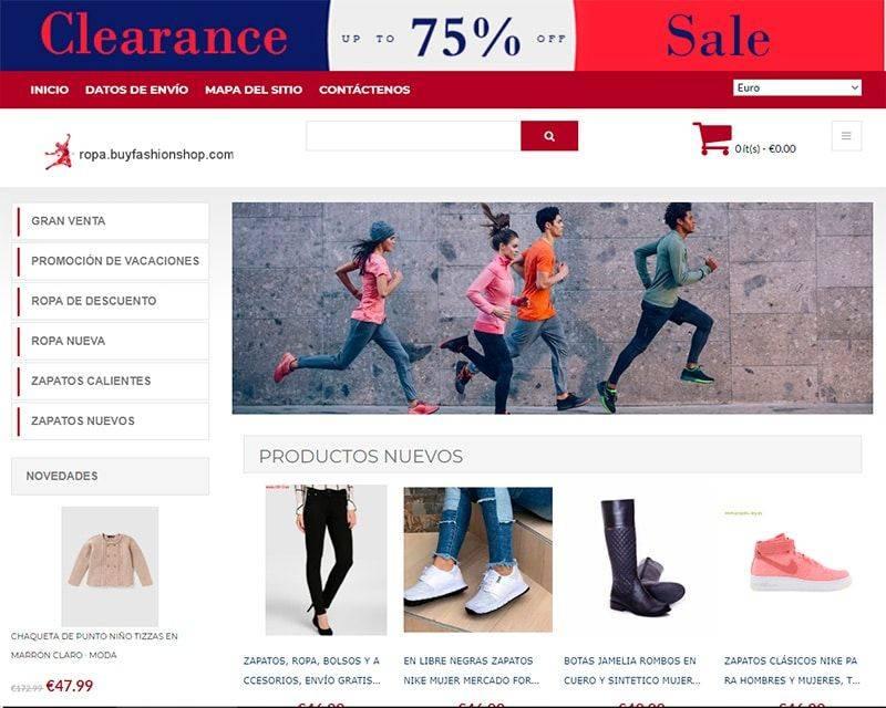 Ropa.buyfashionshop.com Tienda Falsa Online Moda