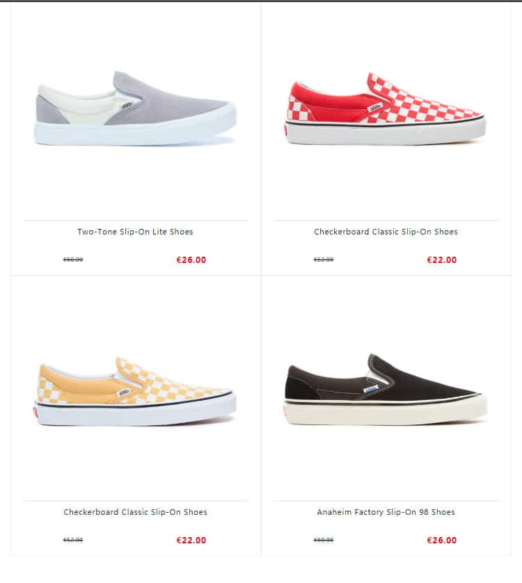 vans shoes online shopping