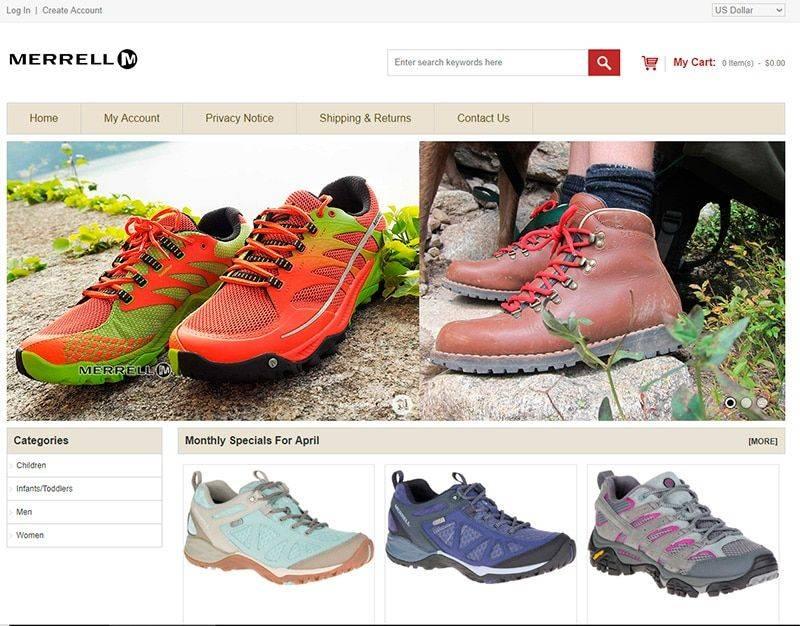 Spot Lysutleie.com Tienda Falsa Online Merrell