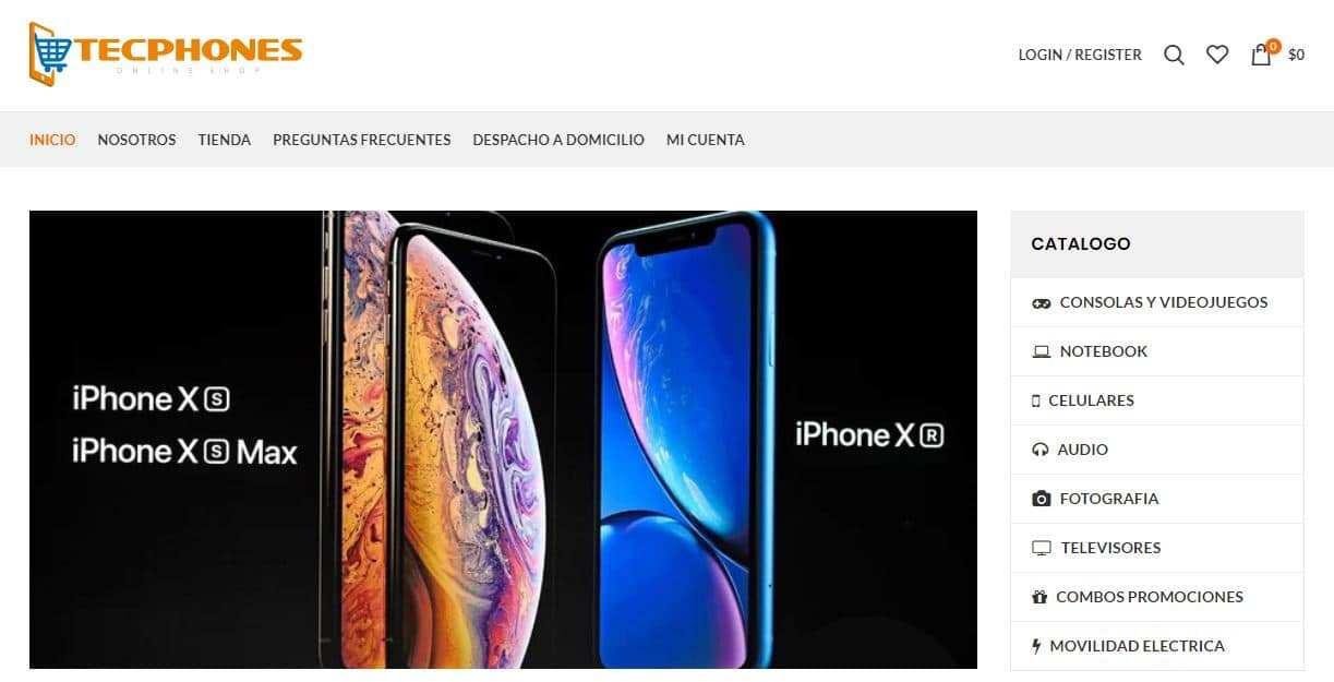 Tecphones.com Tienda Falsa Online Moviles