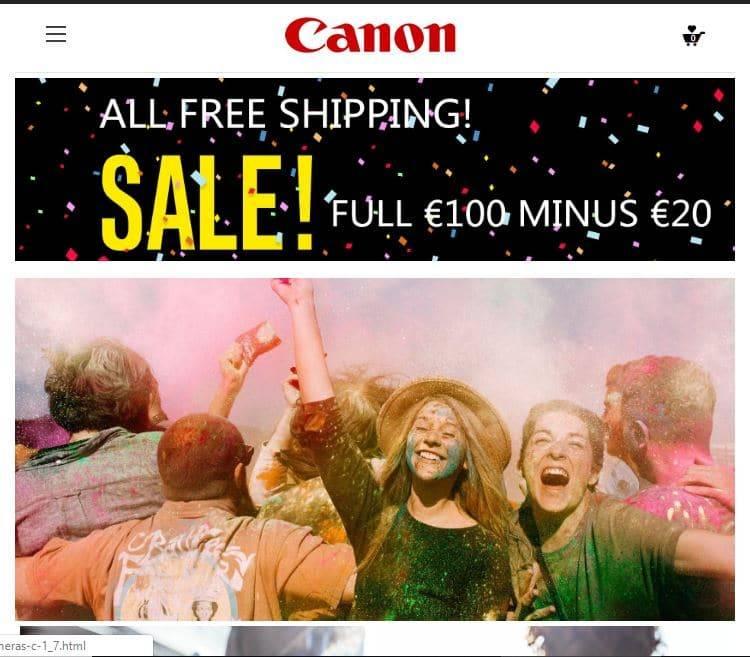 Canonshop.site Tienda Falsa Online Canon
