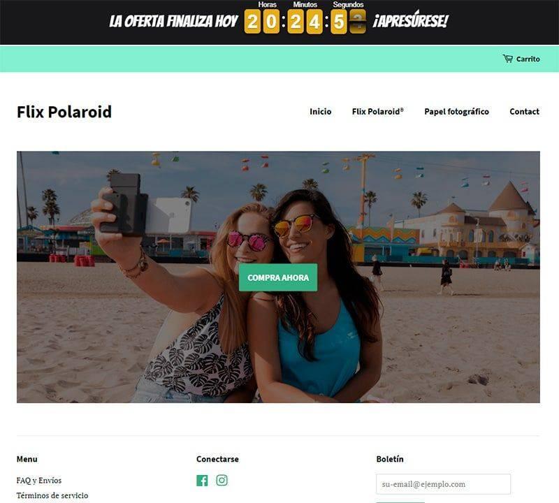 Flixpolaroid.com Tienda Falsa Online Impresora Polaroid