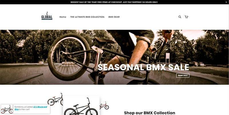 Globalbikeshop.com Tienda Falsa Online Bicicletas