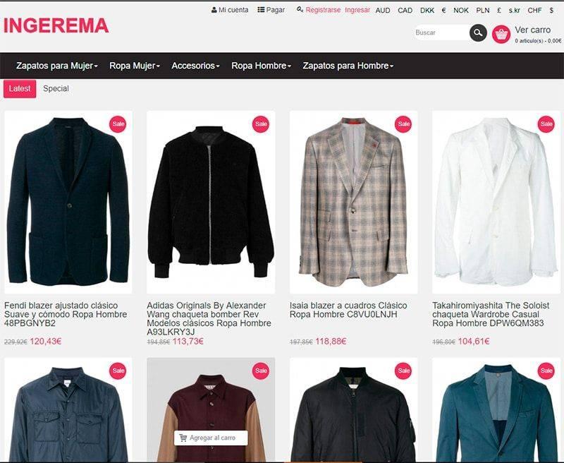 Ingerema.es Tienda Falsa Online Moda