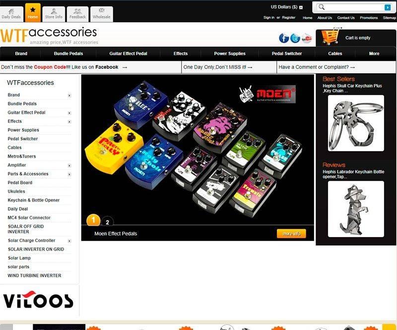 Wtfaccessories.com Tienda Online Falsa Accesorios Guitarras Electricas