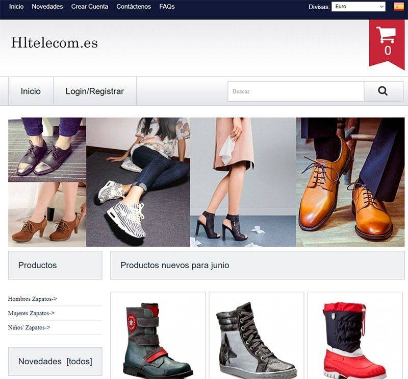 Hltelecom.es Tienda Falsa Online Zapatos