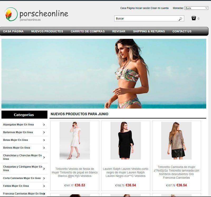 Porscheonline.es Tienda Falsa Online Moda Mujer