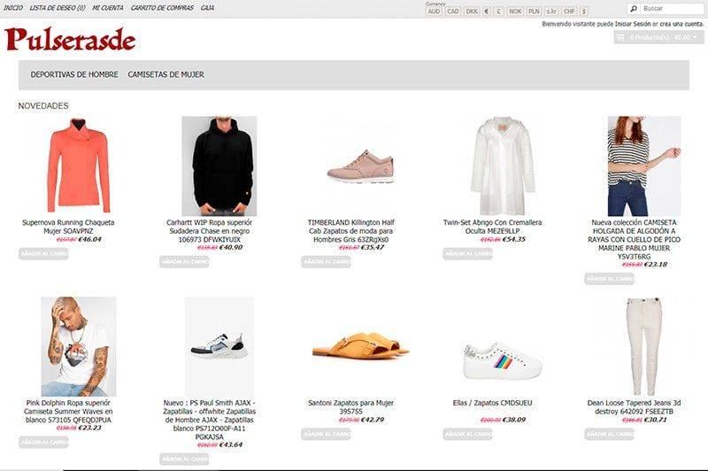 Pulserasdecuero.es Tienda Falsa Online Moda