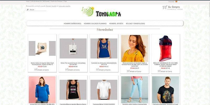 Tonigaspar.es Tienda Online Falsa Moda