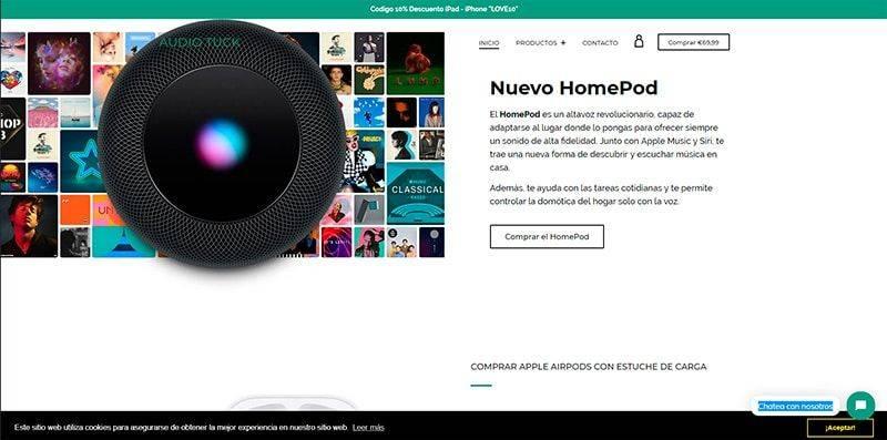 Audiotuck.com Tienda Online Falsa Electronica