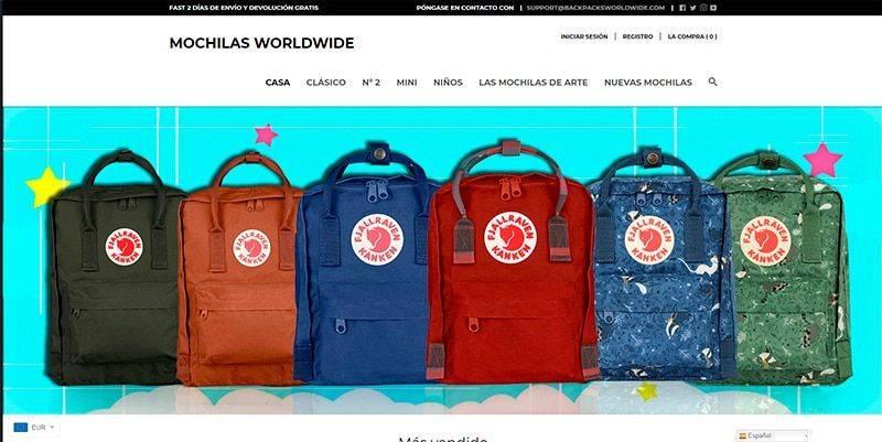 Backpacksworldwide.com Tienda Online Falsa Fjallraven