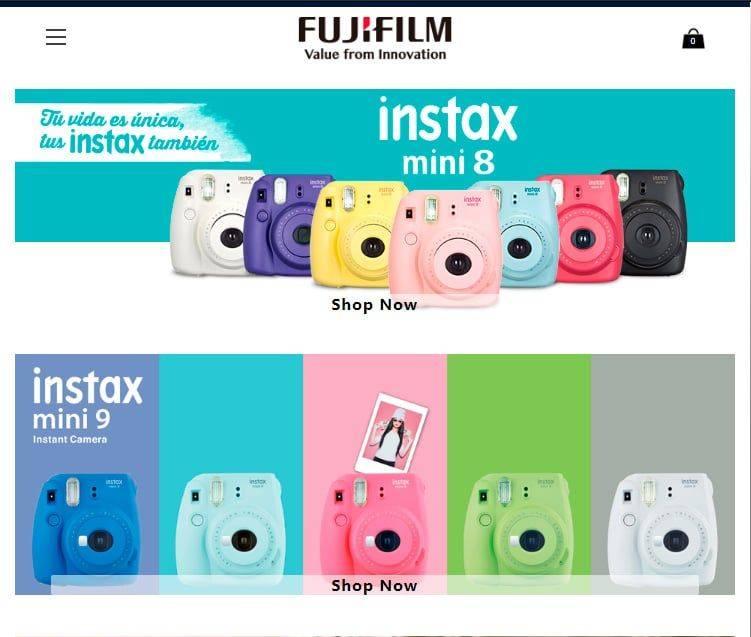 Fujishop.site Tienda Online Falsa Fujifilm