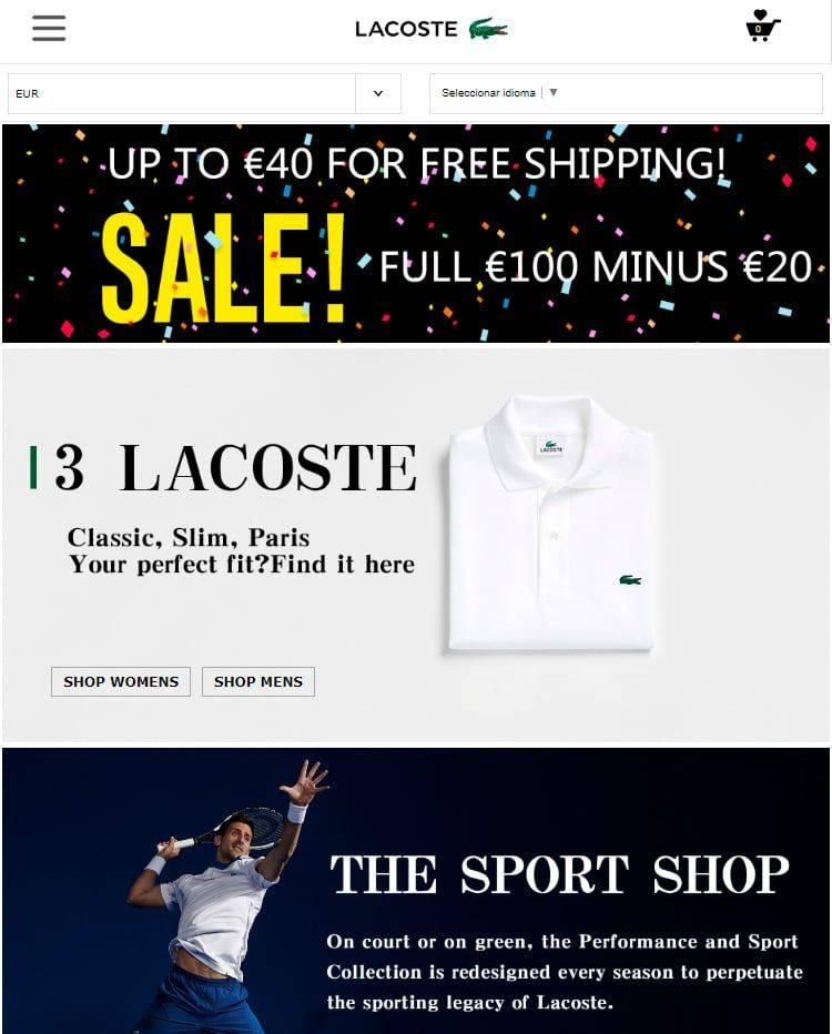laclothes.club tienda falsa online Lacoste