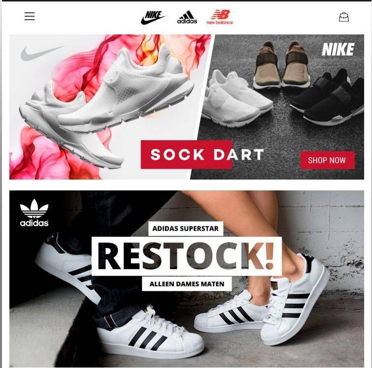 Nikekh.com Tienda Falsa Online Nike Adidas New Balance