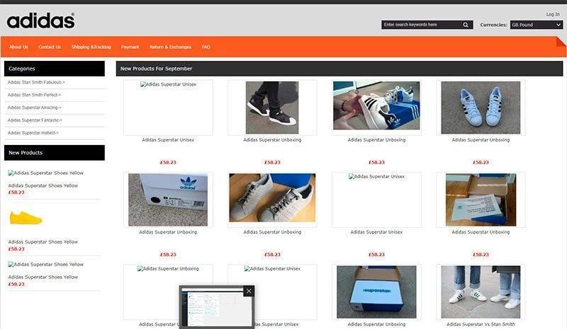 Aoriginal.co.uk Tienda Falsa Online Adidas
