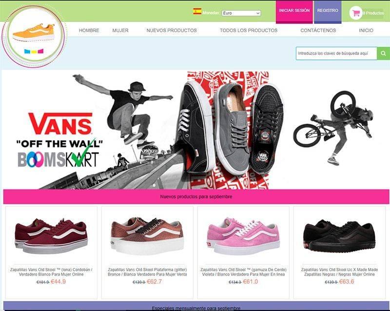 Esclavascadiz.es Tienda Falsa Online Vans