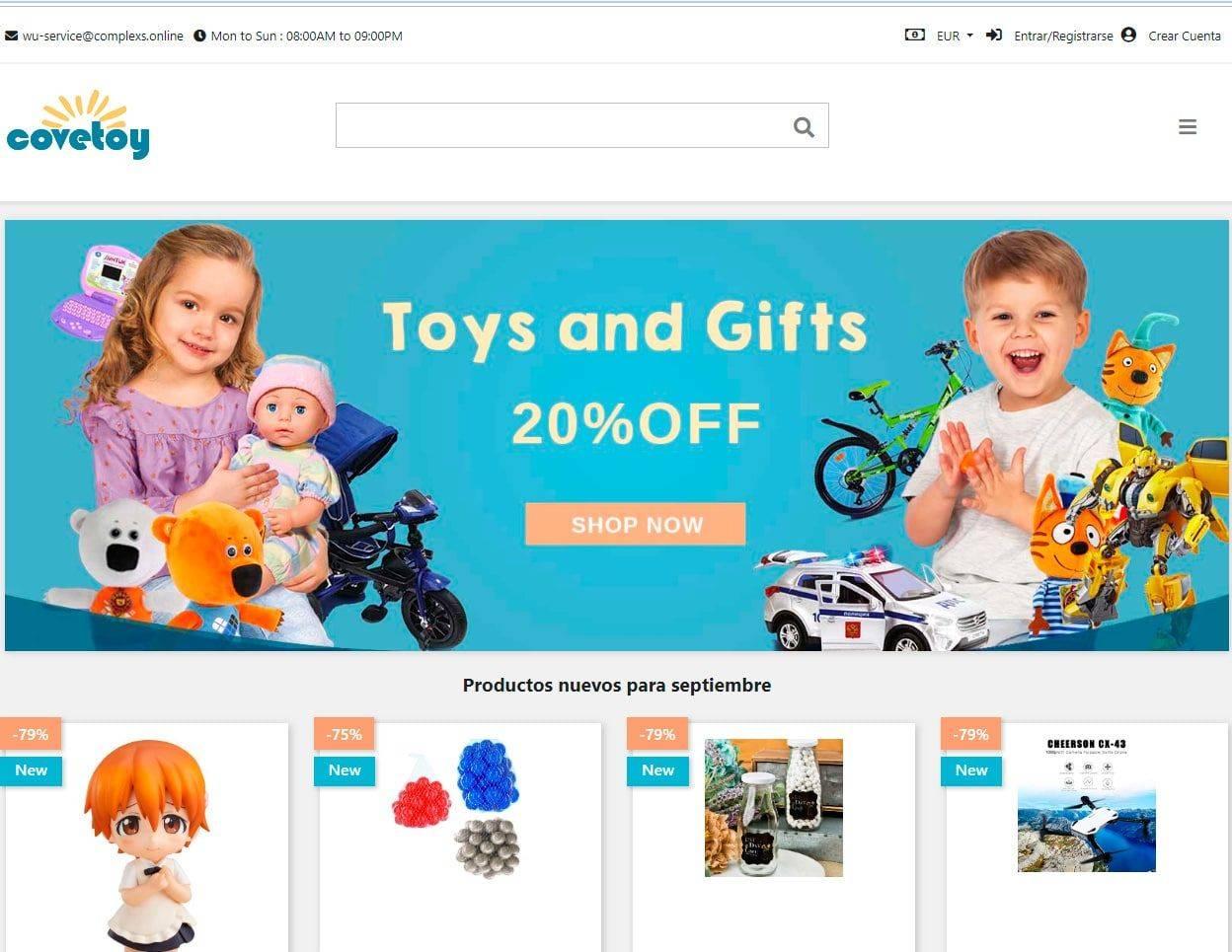 Yourraleighdreamhome.com Tienda Online Falsa Juguetes