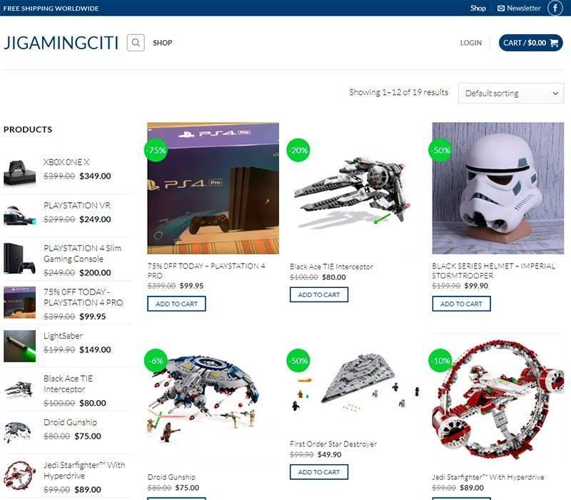 Jigamingciti.com Tienda Falsa Online Juguetes Videojuegos