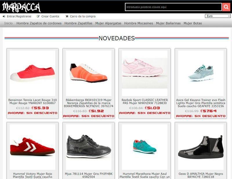 marpacca.es tienda falsa online calzado