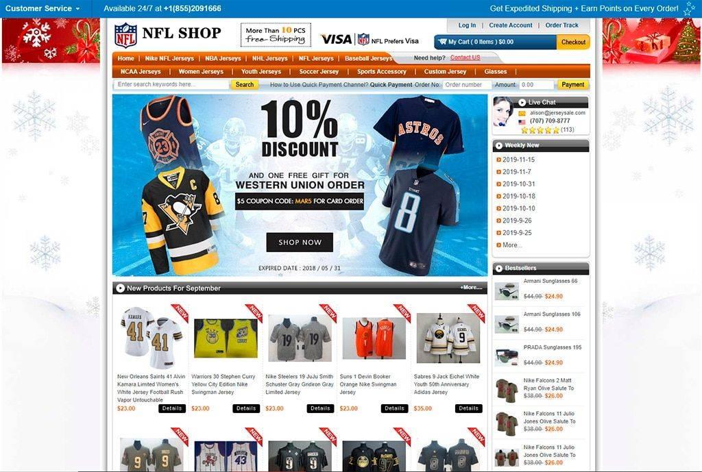 Jerseysale.info Tienda Online Falsa Equipamiento Nfl
