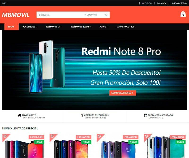 Mbmovil.com Tienda Online Falsa Smartphones Xiaomi