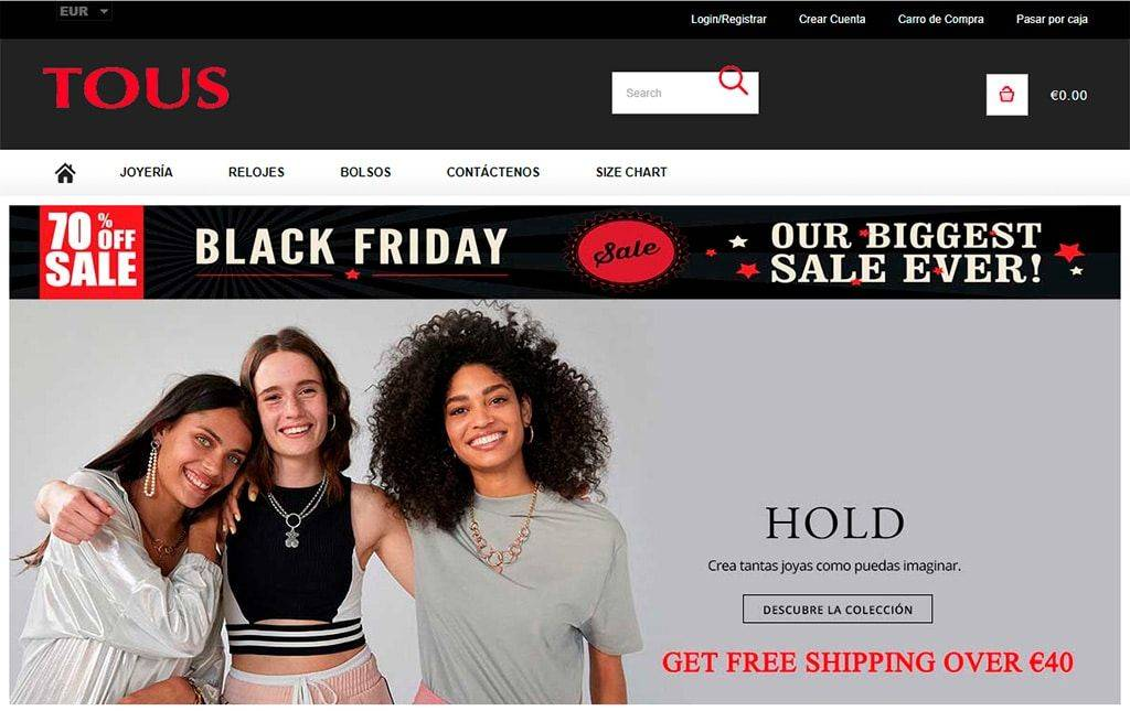 Toustienda.com Tienda Online Falsa Tous
