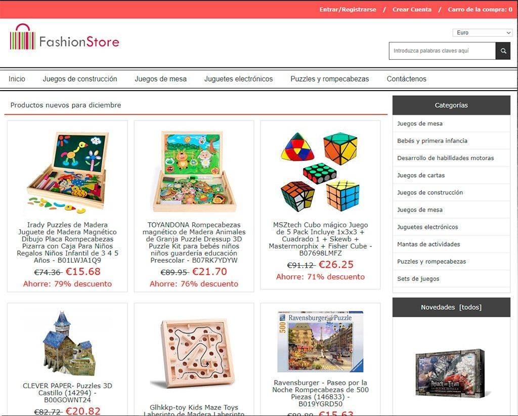 Nohasevilla.es Tienda Online Falsa Juguetes