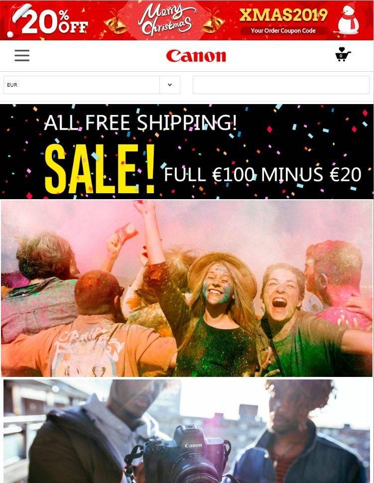 Shopca.club Tienda Online Falsa Canon