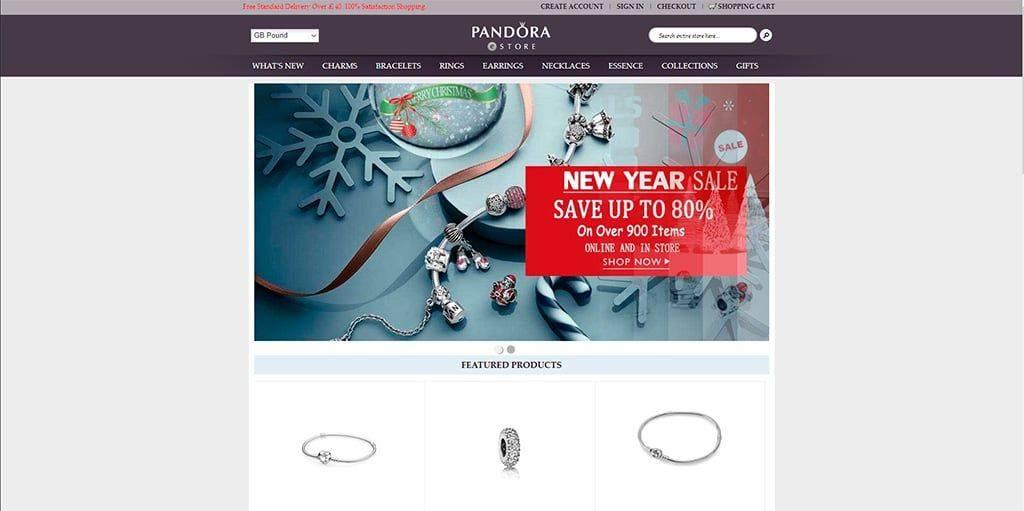 Pandoracharmsoutlets.com Tienda Online Falsa Pandora