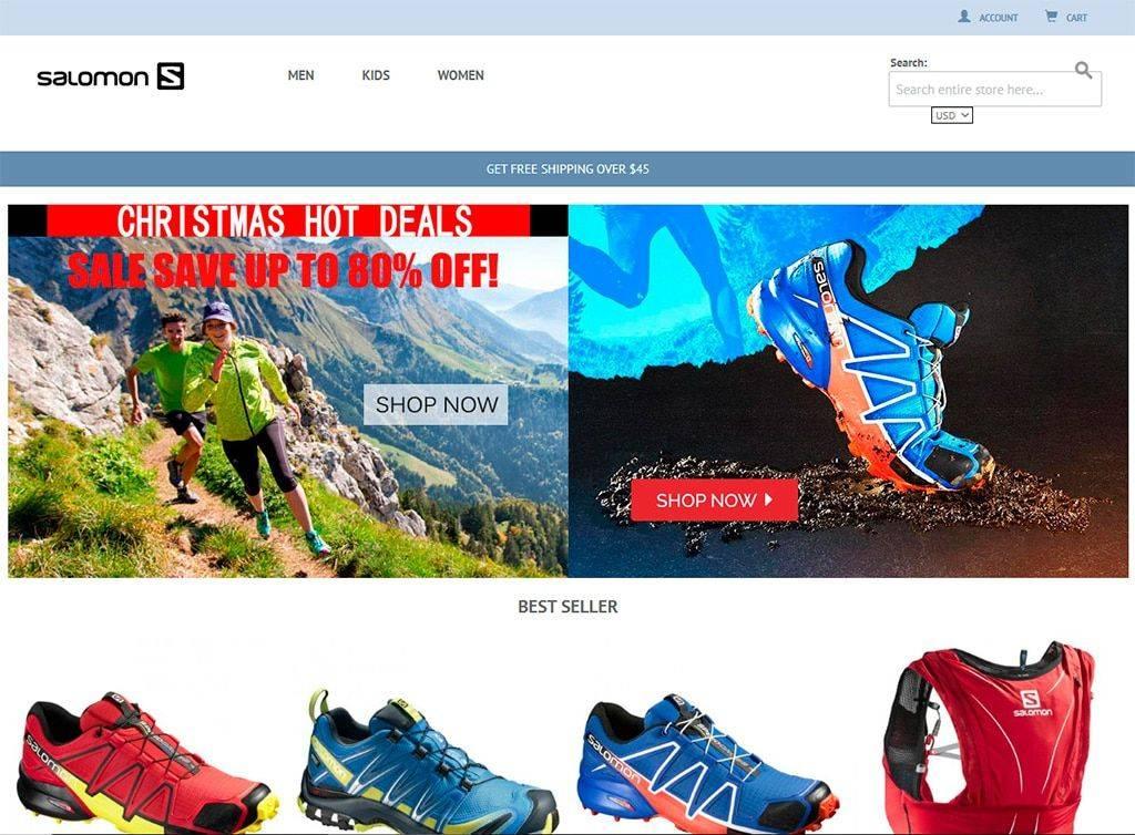 Salomoneoutlets.com Tienda Online Falsa Salomon