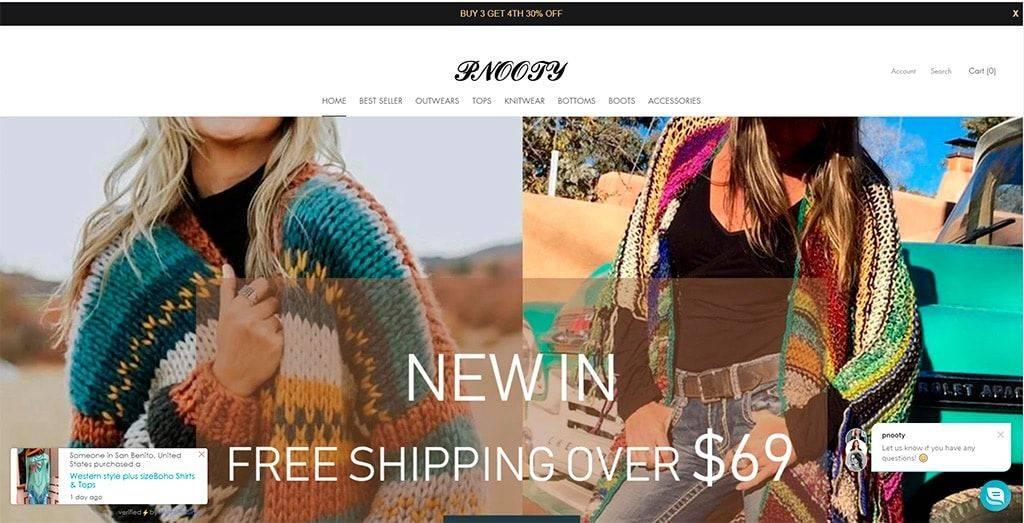 Pnooty.com Tienda Online Falsa Moda