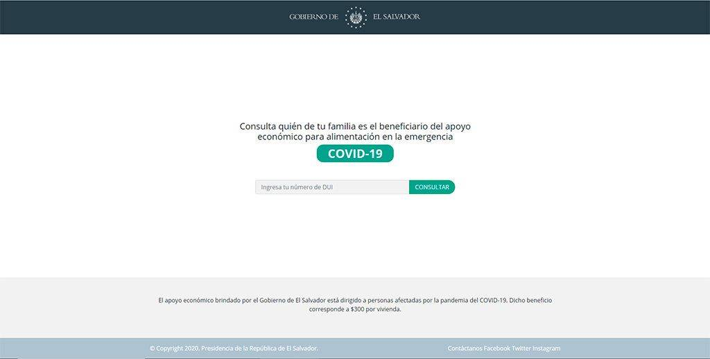 Covid19 Elsalvador.com Pagina Falsa Ayudas Coronavirus El Salvador